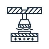 Vettore di piegamento dell'icona isolato su fondo bianco, segno di piegamento royalty illustrazione gratis
