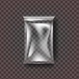 Vettore di plastica della borsa dell'alimento Involucro trasparente della borsa dell'alimento del cuscino Polietilene vuoto del p illustrazione vettoriale