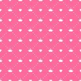 Vettore di principessa Seamless Pattern Background Fotografia Stock