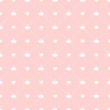 Vettore di principessa Seamless Pattern Background Fotografie Stock