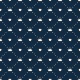 Vettore di principessa Seamless Pattern Background Immagine Stock