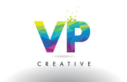 Vettore di progettazione dei triangoli di V P Colorful Letter Origami di VP royalty illustrazione gratis