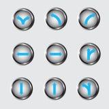 Vettore 99 di progettazione del bottone della freccia immagini stock