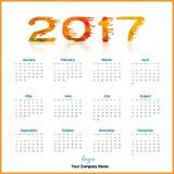 Vettore di progettazione 2017 del calendario e editabile da tavolino illustrazione di stock