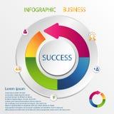 Vettore di progettazione di Infographic Fotografie Stock