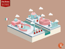 Vettore di progettazione di Roma Italia Immagine Stock Libera da Diritti