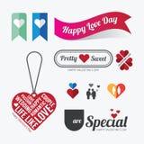 Vettore di progettazione di simbolo di amore di giorno di biglietti di S. Valentino Fotografia Stock