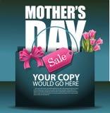 Vettore di progettazione ENV 10 del sacchetto della spesa di vendita di giorno di madri Immagini Stock Libere da Diritti