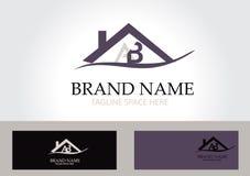 Vettore di progettazione di logo della casa della lettera ab Fotografia Stock Libera da Diritti