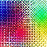 Vettore di semitono variopinto di pendenza del fondo Backround astratto con gli elementi di semitono variopinti Geomeric retro illustrazione vettoriale