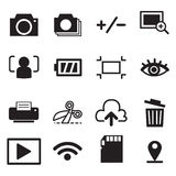 Vettore di simbolo dell'illustrazione delle icone di modo della macchina fotografica Fotografia Stock