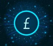Vettore di Sterling Great Britain Currency Icon della libbra illustrazione di stock