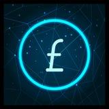 Vettore di Sterling Great Britain Currency Icon della libbra royalty illustrazione gratis