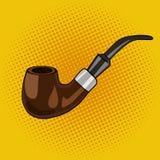 Vettore di stile di Pop art del tubo di fumo Immagine Stock Libera da Diritti
