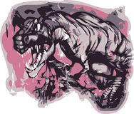 Vettore di T-rex Fotografie Stock