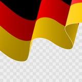 Vettore di una bandiera tedesca d'ondeggiamento Fotografie Stock