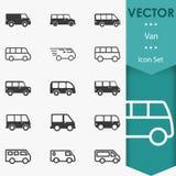 Vettore di Van icons Fotografia Stock
