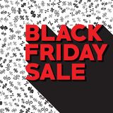 Vettore di vendita di venerdì del nero di autunno del modello Sconti di autunno il venerdì nero royalty illustrazione gratis