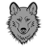 Vettore di Wolf Logo Mascot Emblem Wolf Head Fotografia Stock Libera da Diritti