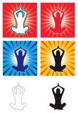 Vettore di yoga Immagine Stock
