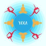 Vettore di yoga Fotografia Stock