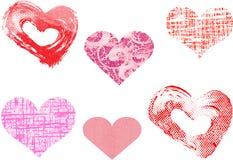 Vettore differente dei cuori del biglietto di S. Valentino illustrazione di stock