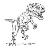 Vettore - dinosauro Fotografia Stock