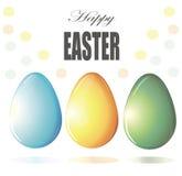 Vettore dipinto delle uova di Pasqua Immagini Stock