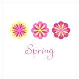 Vettore disegnato fiori Stampa floreale luminosa per le camice Fotografia Stock