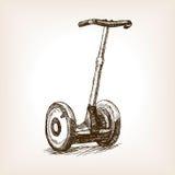 Vettore disegnato a mano di stile di schizzo del veicolo elettrico royalty illustrazione gratis