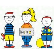 Vettore divertente di ciao dei bambini Royalty Illustrazione gratis