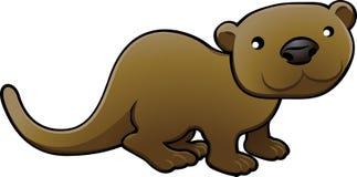 Vettore dolce Illustratio della lontra Fotografia Stock Libera da Diritti