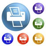 Vettore domestico moderno dell'insieme delle icone di stampante royalty illustrazione gratis