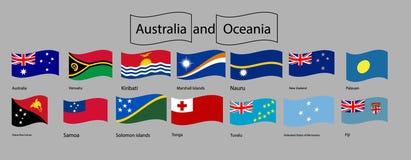 Vettore ed illustrazione Australia e bandiera di Oceania royalty illustrazione gratis