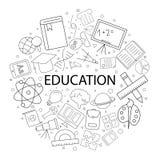 Vettore Educati sul modello con la parola Fondo di istruzione illustrazione di stock