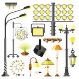 Vettore elettrico dell'attrezzatura di stili delle lampade illustrazione di stock