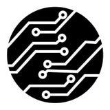 Vettore elettronico di simbolo di tecnologia del circuito royalty illustrazione gratis