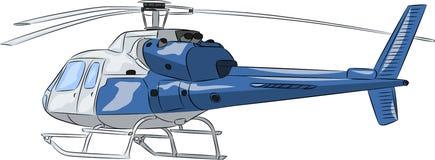Vettore Elicottero blu del passeggero Fotografia Stock