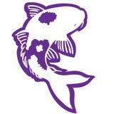 Vettore ENV disegnato a mano, vettore, ENV, logo, icona, crafteroks, illustrazione del pesce di Koi della siluetta per gli usi di royalty illustrazione gratis