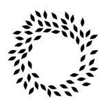 Vettore ENV disegnato a mano, vettore, ENV, logo, icona, crafteroks, illustrazione della corona dell'alloro della siluetta per gl illustrazione di stock