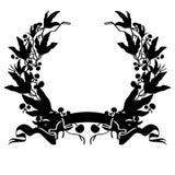 Vettore ENV disegnato a mano, vettore, ENV, logo, icona, crafteroks, illustrazione della corona dell'alloro della siluetta per gl illustrazione vettoriale