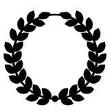 Vettore ENV disegnato a mano, vettore, ENV, logo, icona, crafteroks, illustrazione della corona dell'alloro della siluetta per gl royalty illustrazione gratis