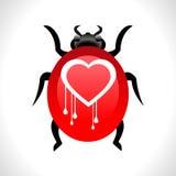 Vettore eps10 di concetto dell'insetto dell'emorragia del cuore del virus dell'insetto del openssl di Heartbleed illustrazione di stock