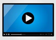 Riproduttore video per il web, disegno minimalistic Immagini Stock
