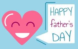 Vettore felice della carta di giorno del ` s del padre illustrazione di stock