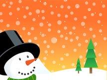 Vettore felice di natale del pupazzo di neve Fotografia Stock