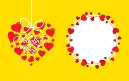 Vettore felice di progettazione della cartolina d'auguri di San Valentino illustrazione vettoriale