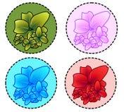 Vettore - fiori Fotografia Stock