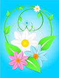 Vettore - fiori della sorgente Immagine Stock