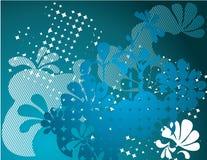 Vettore fiorito blu Immagine Stock